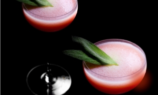 Sidecar(Fresh Peach and Fresh Sage)<br>白桃とセージのサイドカー